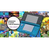 Nintendo 3ds Reacondicionada 1 Año Garantia,+ 25 Juegos 32gb