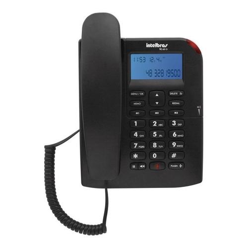 Telefone fixo Intelbras TC 60 ID preto