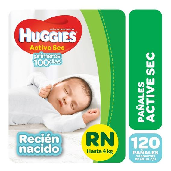 Pa?ales Huggies Active Sec P Y Recien Nacido Pack X 3