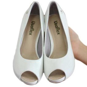 Sapato Original Usaflex Meia Pata Prata 5902