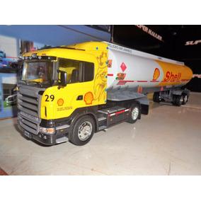 Camion Scania R470 Tanquero De Shell En Escala 1/32