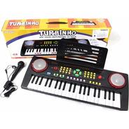 Teclado Infantil Com Microfone 44 Teclas Ym-238c Natal!