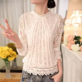 Blusa De Encaje Para Dama, Moda Japonesa