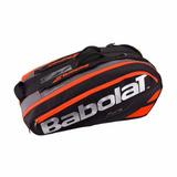 Bolso Raquetero Babolat Pure Negro/ Rojo Fluo X12 2017 Tenis