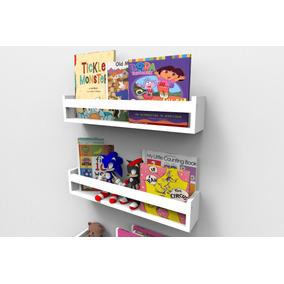 Prateleiras Para Livros Infantis Quarto Bebê 60cm - 2 Peças