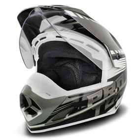 Capacete Motocross Trilha Pro Tork Adventure Th-1 Prata