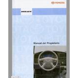 Manual Del Usuario Propietario Toyota Hilux 2001 Al 2004