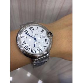 Relógio Cartier Automatic Prata Mostrador Branco Aço