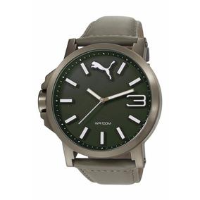 Reloj Puma Hombre Caballero Piel Gris Original Envio Gratis