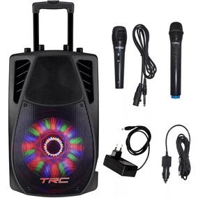 Caixa De Som Amplificadora Bluetooth 360w Usb Fm Trc 359