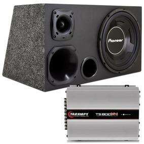 Caixa Trio Sub 12 Pioneer 600w Rms + Módulo Taramps Ts 800x4