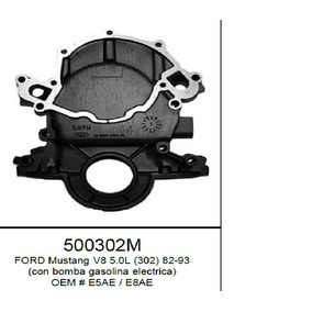 Tapa Distribucion Ford 302 82-93 Mustang Bomba Ele 500302m