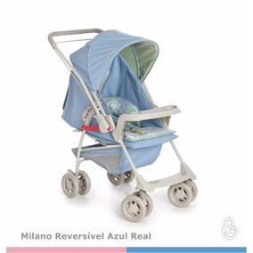 Carrinho De Bebe Galzerano Milano Reversível Azul Real