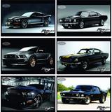 Colección De 6 Posters Imagenes Ford Mustang (muscle Racing)