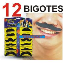 12 Docena De Bigotes Postizos Tela Eventos Fiestas Boda Dj