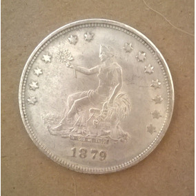 Early Silver Trade Dollar 1879