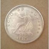 Early Silver Trade Dollar 1879