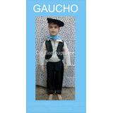 Disfraz Gaucho Patrio Chaleco Boina Camisa Talle 4/6/8/10
