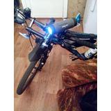 Kit Bike Lanterna Farol Led + Caixa De Som Sem Fio Bluetooth
