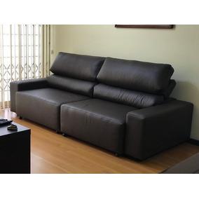 Sofa De Couro Retratil E Reclinavel 2 Modulos | Bali - 1,90m