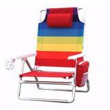 Cadeira De Praia Nautica Com Bolsa Térmica E Porta Copo