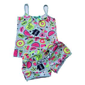 Espectacular Pijama Con Short + Gratiz Antifaz