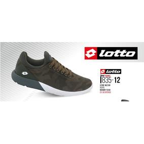 Tenis Lotto P/hombre Verde Militar 835-12 Memory Foam