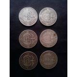 Lote De Monedas De Cincuenta Centavos En Plata 900