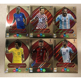 Kit Com 6 Cards Limited Edition Premium Adrenalyn Russia 18