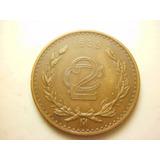 Moneda 2 Centavos Fecha 1939 Cobre