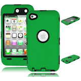 Ipod Touch 4 Case Bastex Hybrid Rugged Outer Green S -negro
