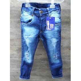 Calça Jeans Infantil Menino Destroyed Rasgada No Joelho