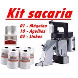 Máquina De Costurar Sacos + 10 Agulhas + 5 Linhas Rorimaq
