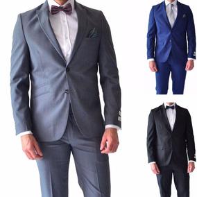 Traje Hombre Corte Slim Fit Varios Colores Rack & Pack