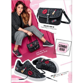 Combo Bolsa/tennis Color Negro 1088 Urban Cklass 2-18