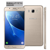 Smartphone Samsung Galaxy J7 Duos Metal Dourado Com 16gb