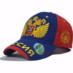 Gorra Visera Rusa Azul Rojo