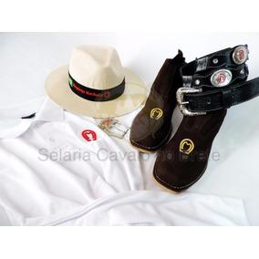 Kit Mangalarga Camisa Botina Chapéu Cinto E Fivela Oferta