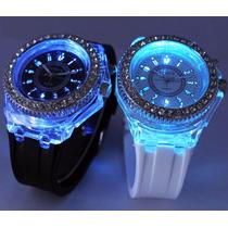 Hermosos Relojes Tipo Geneva Diamante Animal Print Floreados