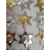 Estrellas Sheriff Plastico Distintivo Policia Seguridad