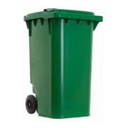 Carrinho Coletor De Lixo 240 Litros- Verde