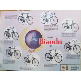 Pôster Bicicleta Antiga Bianchi Quadro Bicicleta