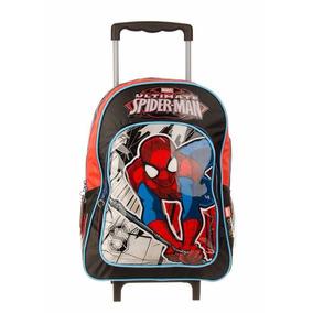 Mochila Con Carro Spiderman Hombre Araña Lic. Original 16