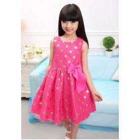 Vestido Princesa Rosa Fiesta Hermoso Rematados