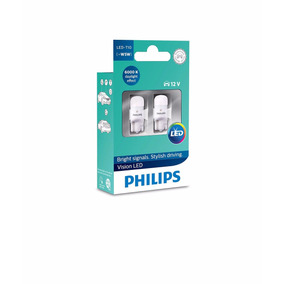 Lampada Philips Pingo Led Vision 6000k W5w T10 Super Branca