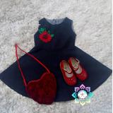 Vestidos De Jean Bordados Para Niñas