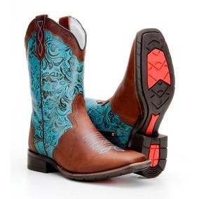 Bota Country Feminina Texana 100% Couro Capelli Ref. 5674