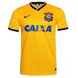 Camiseta Corinthians Nike Brasil Copa 2014 Amarela