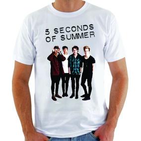 Camiseta 5 Sos Seconds Of Summer Blusa Manga Curta