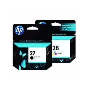 Cartucho De Tinta 27 E 28 Kit Original Hp Lacrado